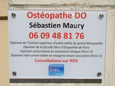 enseigne facade osteopathe